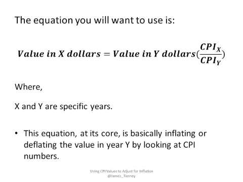 Using CPI Values to Adjust for Inflation