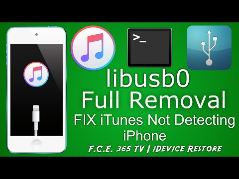 How to Uninstall libusb0 Driver and fix iTunes Not Detecting iPhone