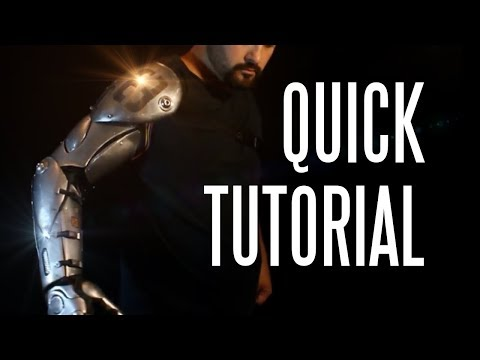 How to Make a Bionic Arm (quick tutorial)