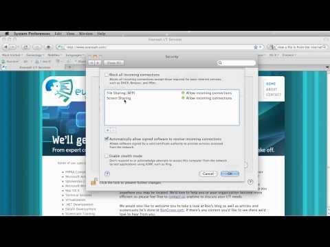 How To Use The Mac OS X Snow Leopard Firewall