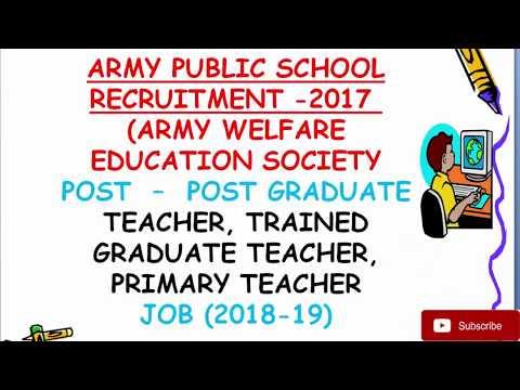 ARMY PUBLIC SCHOOL RECRUITMENT -2017 pgt,tgt,prt शिक्षक भर्तियांlast date21/12/201 all india