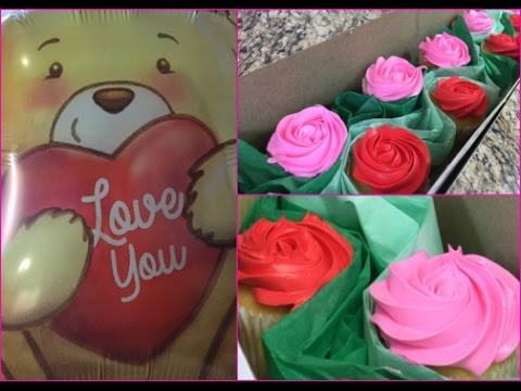 Valentine's Day Rose Cupcake Bouquet(How To)