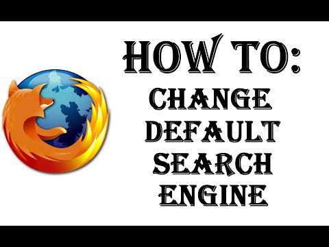How To Change Default Search Engine in Firefox - Search Bar - Google, Yahoo, Bing - Windows 10