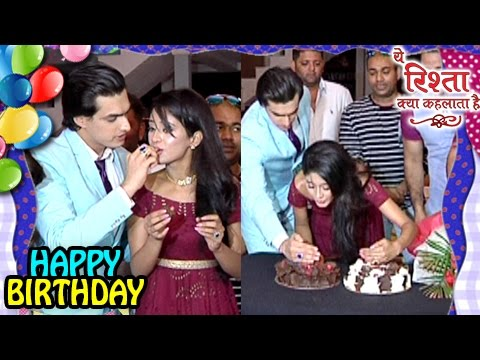 Mohsin CELEBRATES Shivangi S BIRTHDAY On Set   Yeh Rishta Kya Kehlata Hai