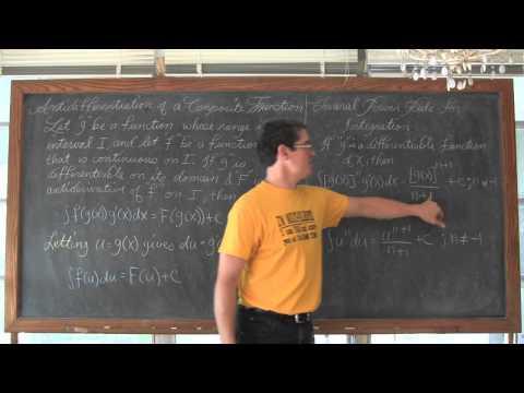 Indefinite Integration by U Substitution