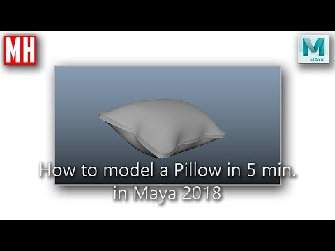How to model a 3D Pillow in Maya 2018 in 5 minutes