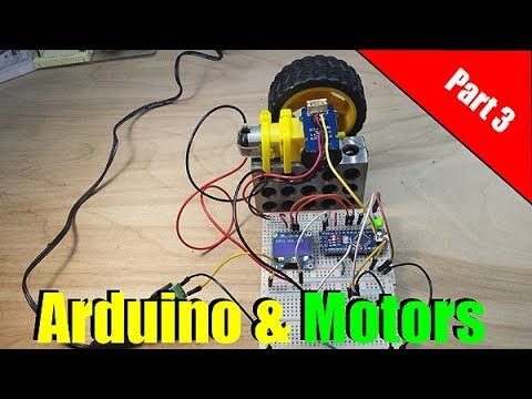 Arduino DC Motor Control with a MOSFET and tachometer