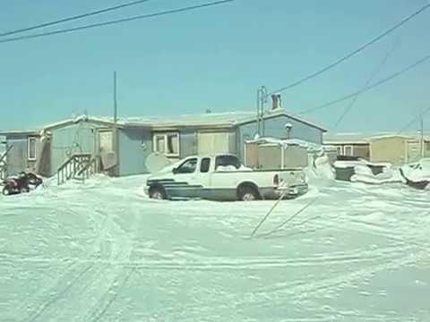 Driving through Nuiqsut, Alaska - an Eskimo/Inuit Village