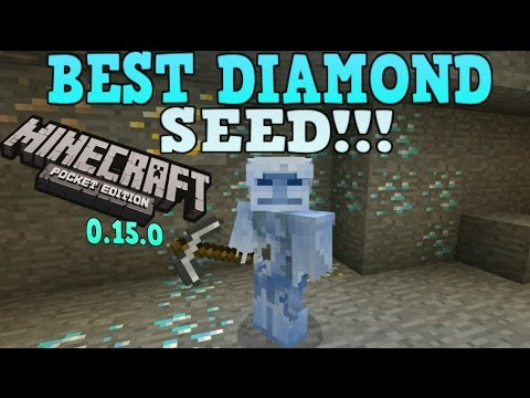 Minecraft Pocket Edition - Best Diamond Seed Ever! - Minecraft Pe DIAMONDS AT SPAWN! 0.15.0