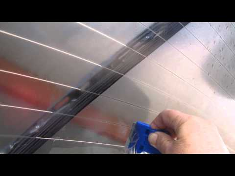 HOW TO GET CAR TINT OF WINDOW PLUS GLUE  THE EASY WAY
