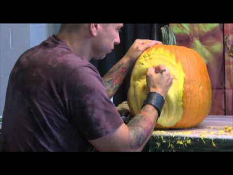 Pumpkin Sculpture at the Maryland State Fair