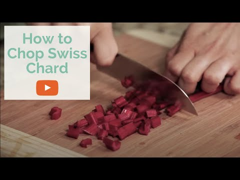 Best Method for Cutting Swiss Chard and other Leafy Greens