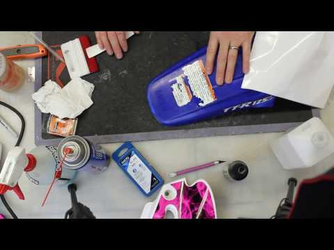 How to Remove Dirt Bike Plastic Warning Labels and Original Decals