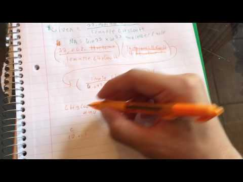 How to convert from number of atoms in a sample to number of grams in a sample