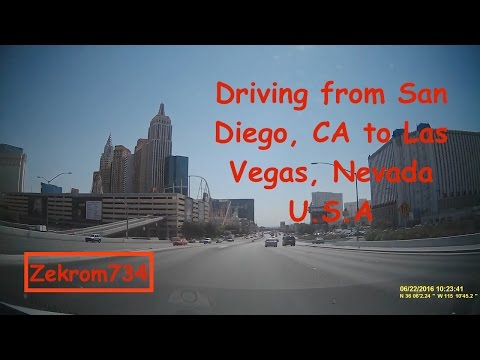Driving from San Diego, CA to Las Vegas, NV in 1 hour