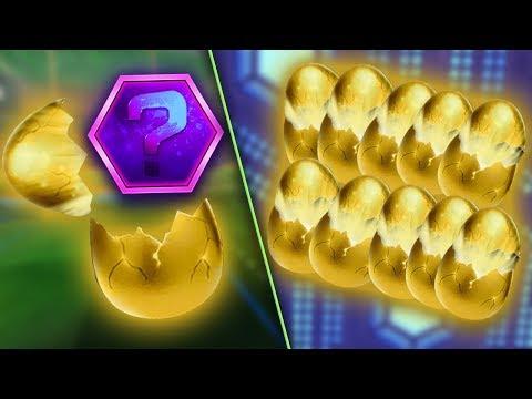 UNBOXING 20 GOLDEN EGGS | Rocket League