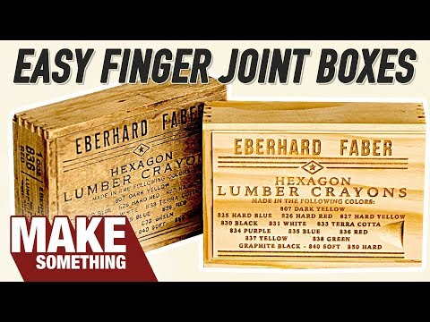 Recreating a 100 Year Old Finger Joint Box / Woodworking Project