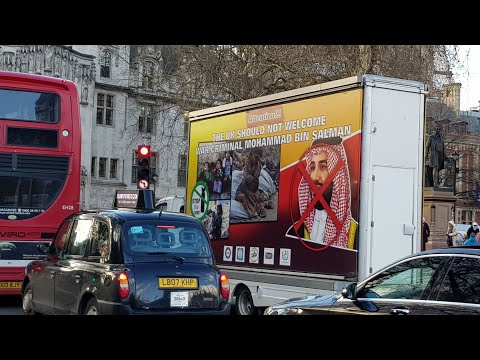 Human Rights Protest Against Visit Of Mohammad Bin Salman To Britain