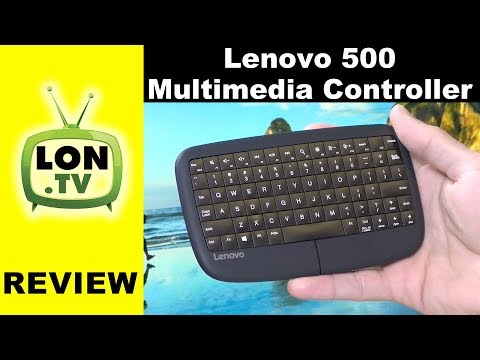 Lenovo 500 Multimedia Controller Review - The Keyboard is the Trackpad!
