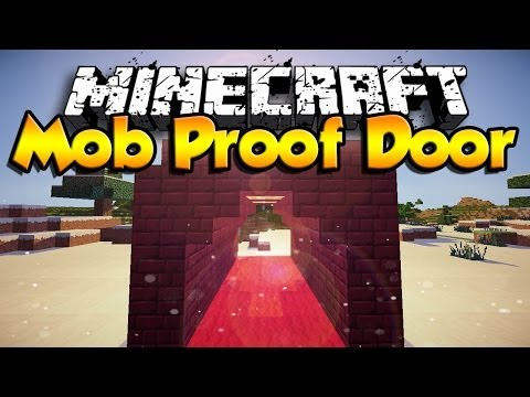 How To Make A Mob Proof Door ( Minecraft 1.10 ) [HD] [2016]