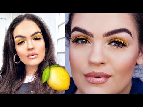 Summer YELLOW Eyeshadow Makeup Tutorial