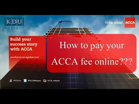 acca fee payment