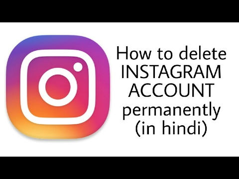 How to permanent delete instagram account