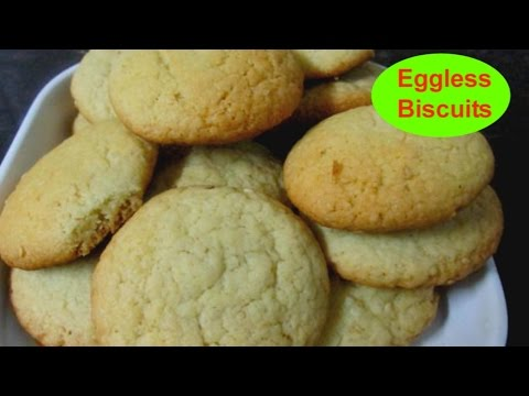 How To Make Biscuits Without Oven At Home -  Easy Biscuit Recipe - Eggless Milk Biscuits Recipe.