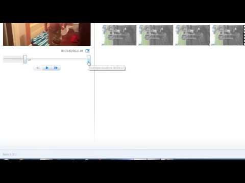 Windows Movie Maker - Using the Trim Tool