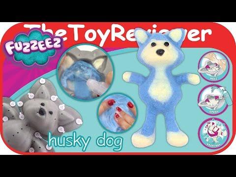 Fuzzeez Husky Dog Felt Kit DIY Stuffed Animal Making Unboxing Toy Review by TheToyReviewer