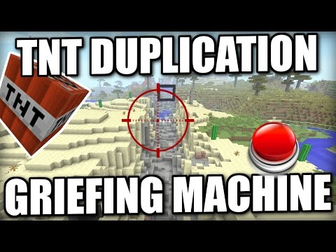 Minecraft PS4 - TNT DUPLICATION / GRIEFING MACHINE - Tutorial - Xbox / PS3 / Wii U