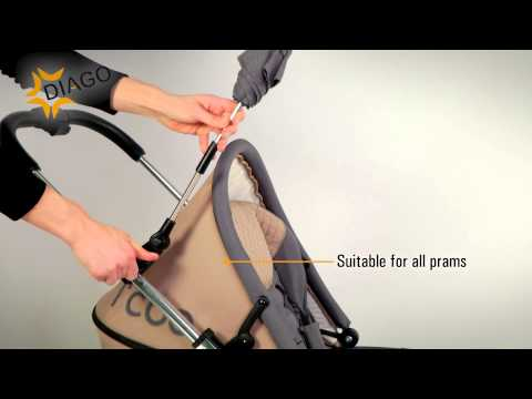 Product Video Diago Deluxe Parasol for Pram