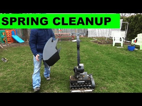 Spring Lawn Cleanup with the Swardman Edwin Scarifier Accessory