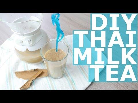 Thai milk tea with coconut milk & cinnamon recipe 泰国奶茶椰奶和肉桂