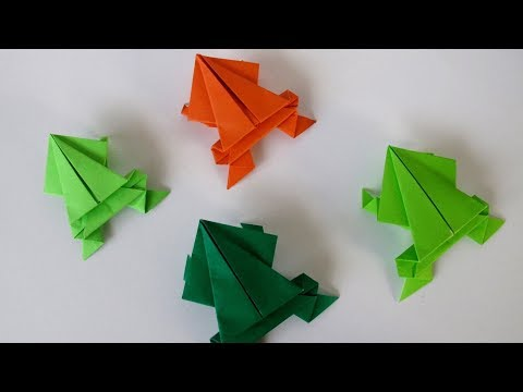 How to make a paper frog  ?