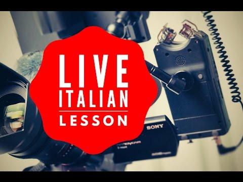 Improve and Practice Beginner and Intermediate Italian: Learn Italian Online LIVE 16/10/17