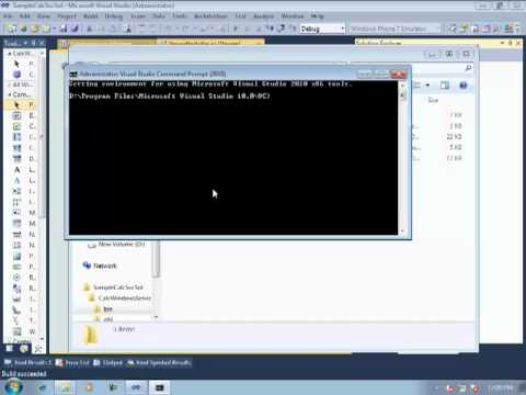 How to Host a WCF Service (Library) using Windows Services