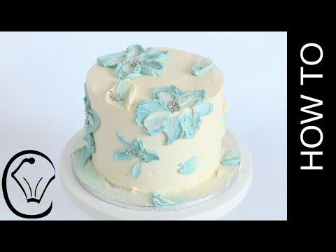 Simple Buttercream Flower Cake COLLABORATION with Rosie's Dessert Spot