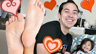HE LOVES MY FEET! - March 15, 2017 -  ItsJudysLife Vlogs
