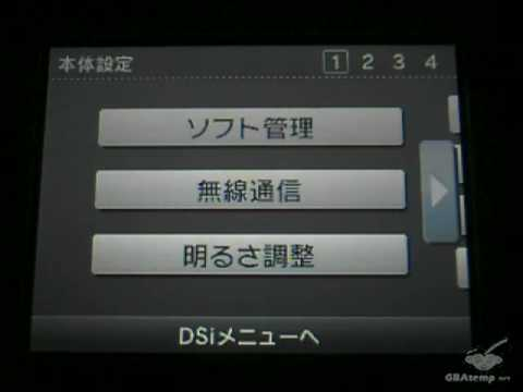 DSi Menu Translation (English)