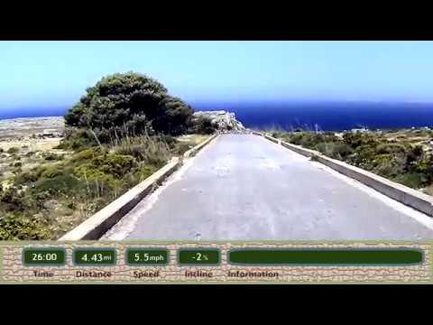 Motivating Treadmill Run Jog Video New Blue Mediterranean Deep Blue V