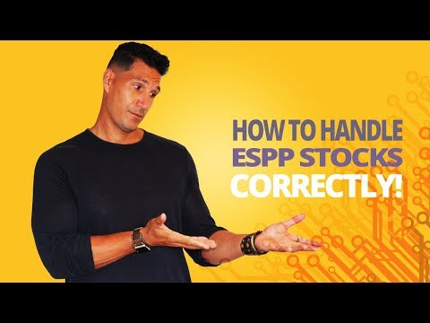 How To Handle ESPP Stocks CORRECTLY!
