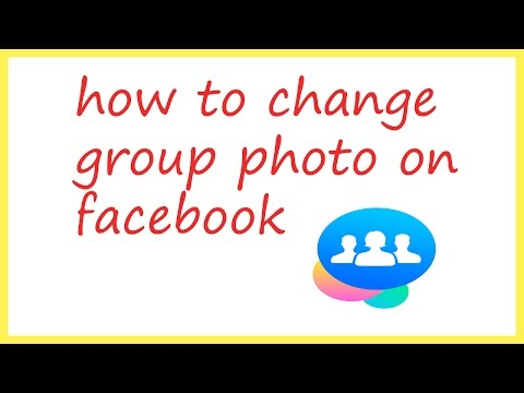 how to change group photo on facebook |