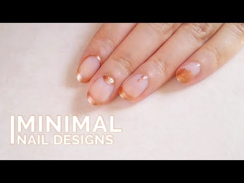 Rose Gold nail art | Minimal Nail Designs