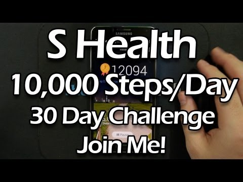 S Health 10000 Steps For 30 Days Challenge Introduction Day 1