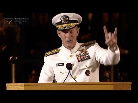 Admiral McRaven addresses the University of Texas at Austin Class of 2014