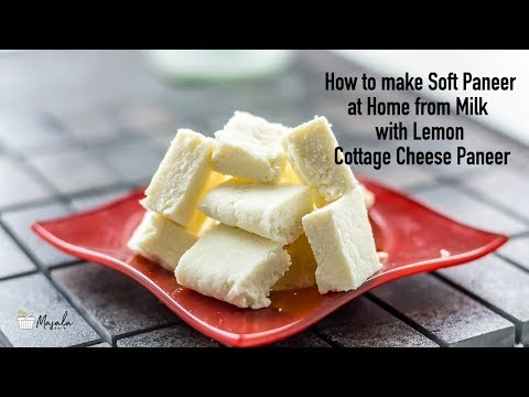 How to make Soft Paneer at Home from Milk with Lemon -Cottage Cheese Paneer | Homemade Paneer Recipe