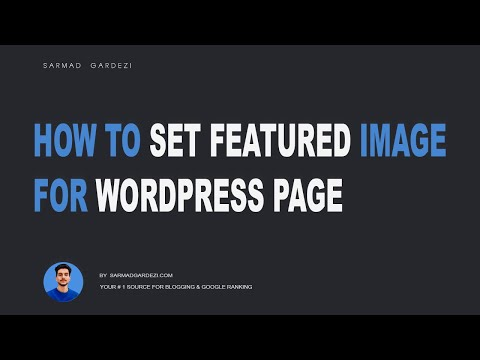 How to set Featured Image of Wordpress Page