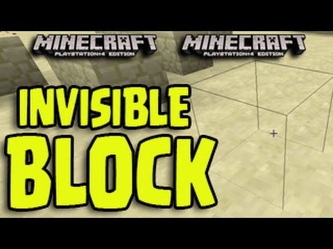 Minecraft (PS3, PS4, Xbox, Wii U) - Invisible Block + Wall Glitch! NEW Tutorial!