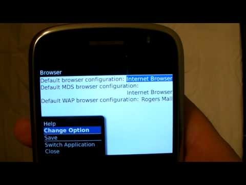 How to change Blackberry browser Settings with CellSaver.ca